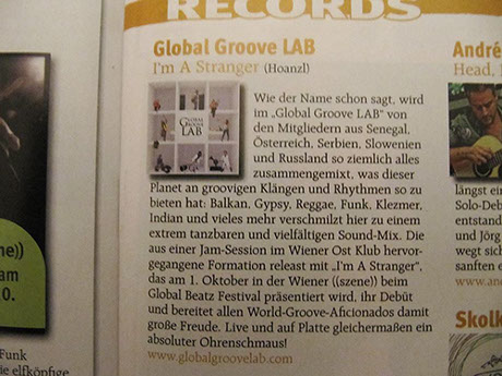 Planet Magazine Global Groove LAB I'm a stranger album review